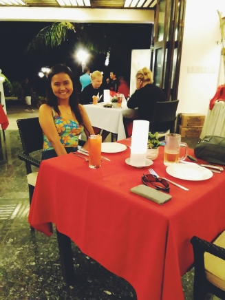 At Italian Restaurant
